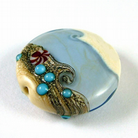 Spring Tide Handmade Lampwork Glass Focal Bead
