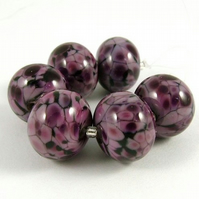 Gorgeous Grape Fritties - Handmade Lampwork Glass Beads
