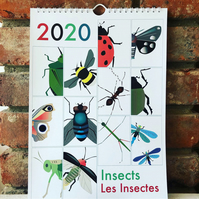 2020 Bilingual calendar: Insects