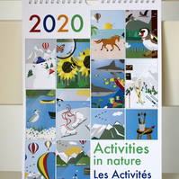 2020 bilingual calendar: Activities in Nature (A4)