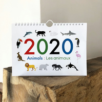 2020 bilingual calendar:Counting Animals