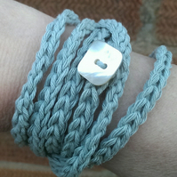 Handmade Cotton Wraparound Bracelet