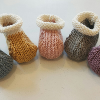 Falkland Wool Baby Booties