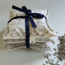 Lavender Sachet Set Greys and Creams