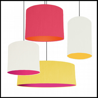 Mix & Match lampshade - Choice of fabric and lining colour - 30cm wide