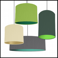 Mix & Match lampshade - Choice of fabric and lining colour - 15cm wide