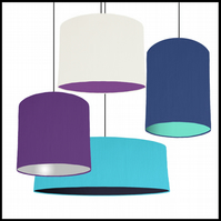 Mix & Match lampshade - Choice of fabric and lining colour - 20cm wide