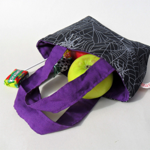 Halloween trick or treat bag. Spiders