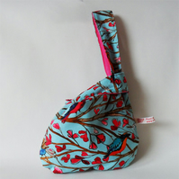 Miya Japanese Knot bag. Laura Gunn 'Wing Song' Print