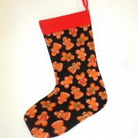 Gingerbread men Christmas stocking FREE WORLDWIDE POSTAGE