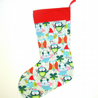 'Tis the Season to Hoot!' Owl Christmas stocking FREE WORLDWIDE POSTAGE