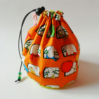 The Knitting Lorax from Dr Suess Sock knitting project bag. FREE WORLDWIDE POST
