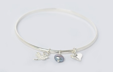 Personalised Dragonfly Bangle