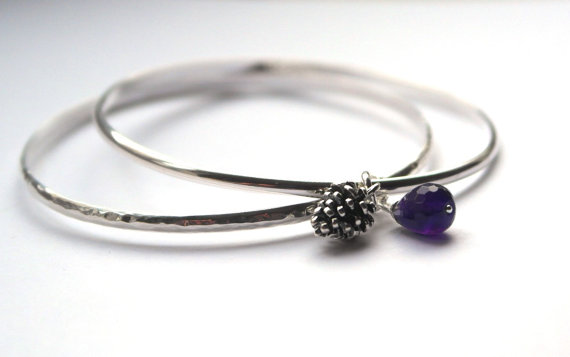 Set of two sterling silver Bangles