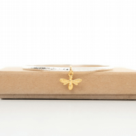 Queen bee bangle gold and silver