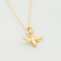 gold bee Pendant necklace