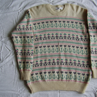 Cream Dutch Doll Fairisle Jumper