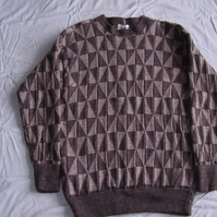 Brown and Fawn Triangle Jumper