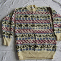 Cream Traditional Fairisle Jumper