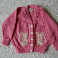 Mouse Cardigan with mouse buttons