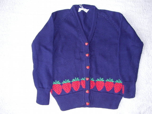 Strawberry Cardigan with Strawberry Buttons
