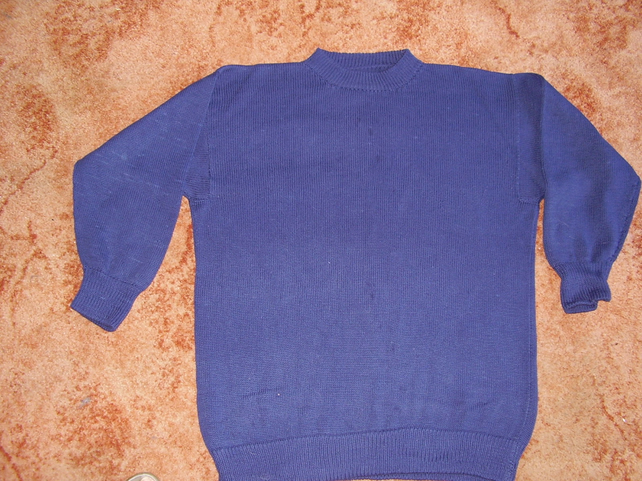 Plain jumper in cotton or wool, any colour