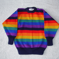 Rainbow Stripe Cotton Jumper
