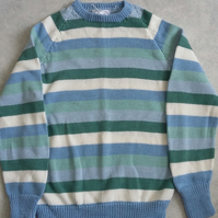Pastel Stripe Cotton Jumper