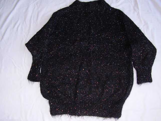 Mohair Jumper in Sparkly Black