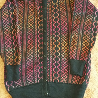 Black Fairisle Cardigan