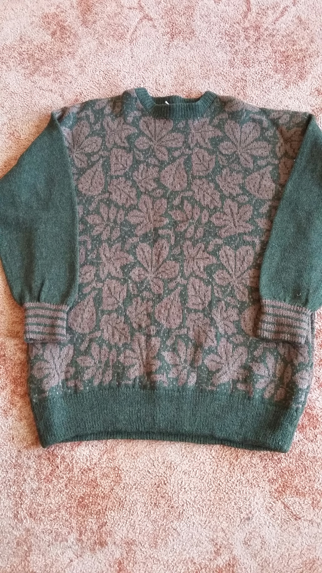 Green Autumn Leaves Jumper