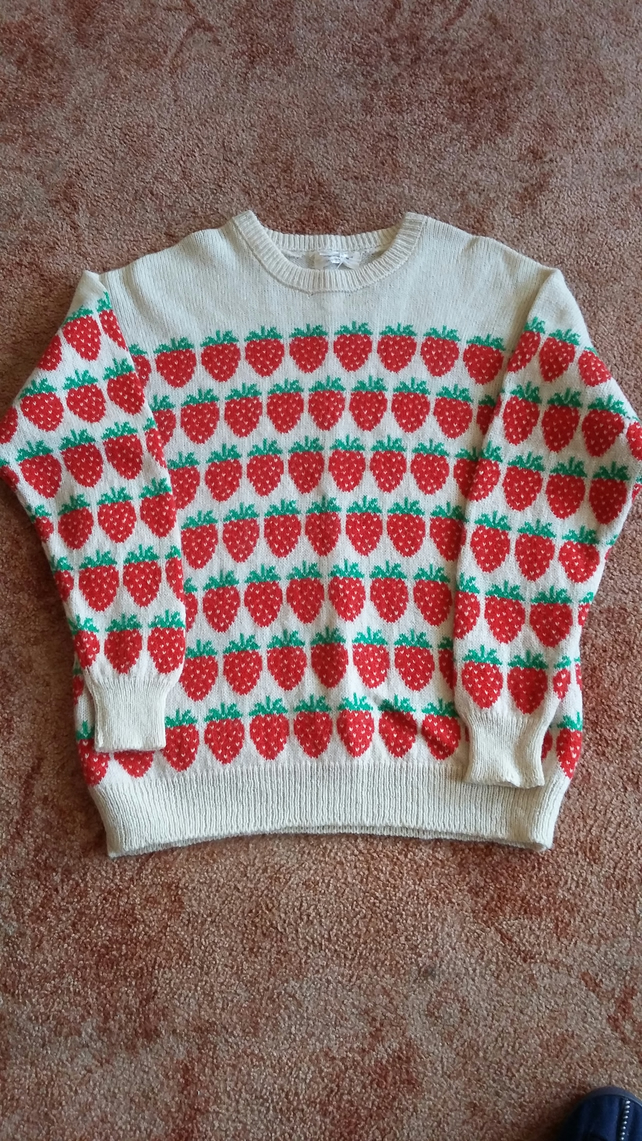 Cream Strawberry Jumper