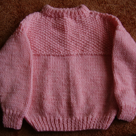 Chunky Pink Hand Knitted Jumper