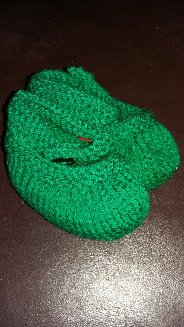 Emerald Mary Jane bootees