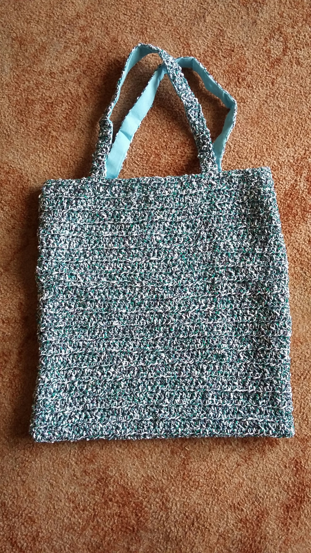 Crochet Bag, fully lined