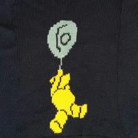 Jumper with a teddy bear and balloon motif
