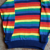 Rainbow jumper for adults