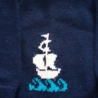 Navy Galleon Jumper