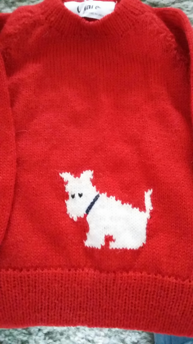 Scottie dog cardigan or jumper
