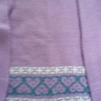 Lilac cotton fairisle jumper size 1-2 yrs