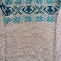 Pink cotton fairisle yoke jumper. 1-2 years