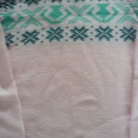 Pink cotton fairisle yoke jumper Size 2-3 yrs