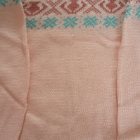 Pink cotton fairisle yoke jumper Size 5-6 years