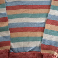 Salmon cotton striped jumper