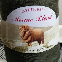King Cole merino blend 4 ply Bronze Green