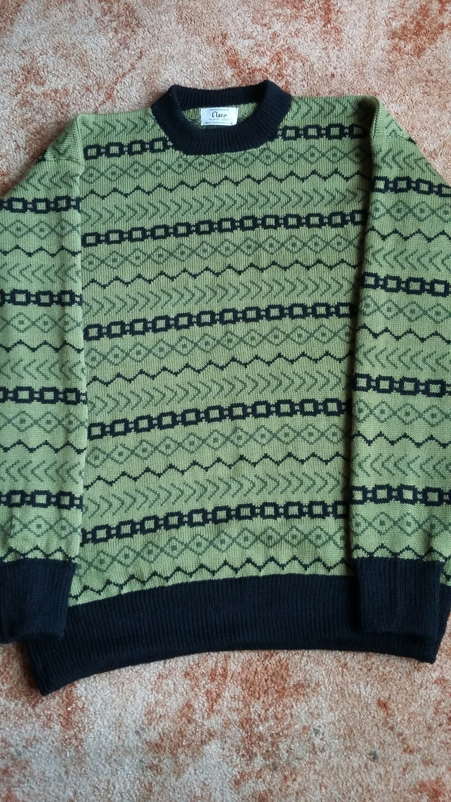 Olive Fairisle Jumper