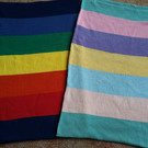 Baby Blanket Wide Stripes Cotton