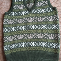 Fairisle Sleeveless Pullover