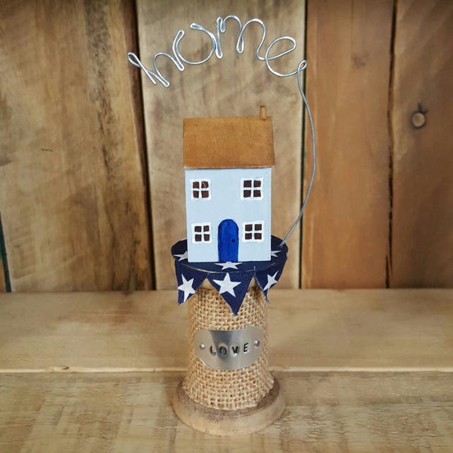 Wooden Mini Cottage on Bobbin Home Gift