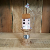 New Handmade Cottage on Bobbin With heart Home Gift